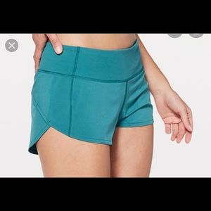 Turquoise Speed Up Shorts